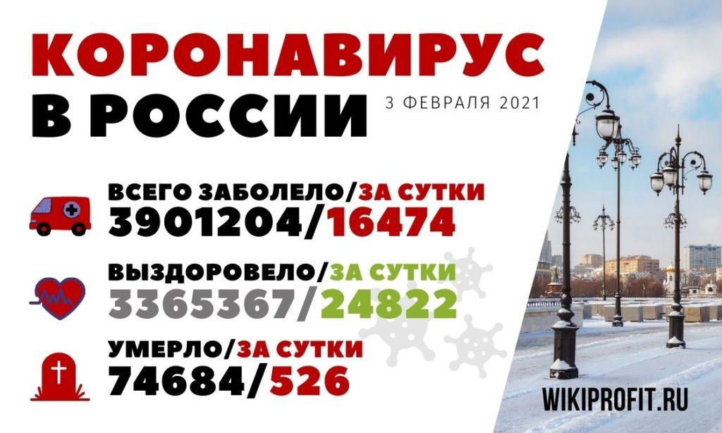 Коронавирус в России 3 февраля